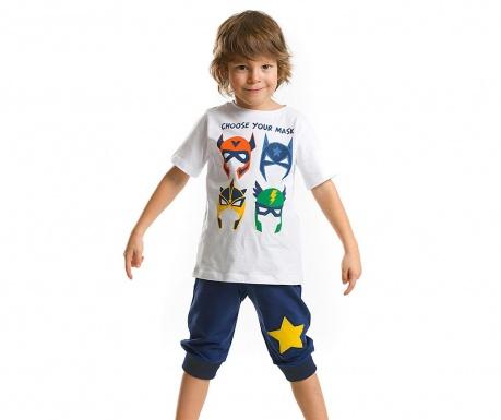 Set tricou si pantaloni scurti pentru copii Mask Gang Baggy