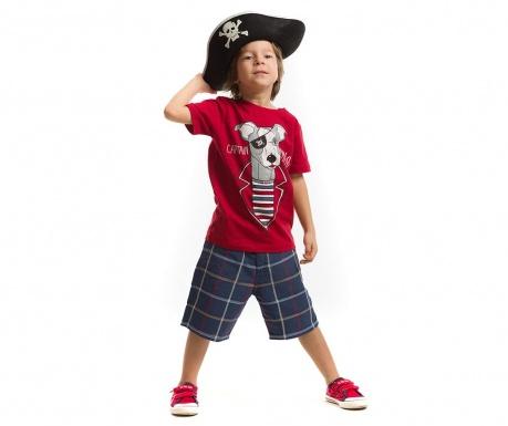 Set tricou si pantaloni trei sferturi pentru copii Captain Milo
