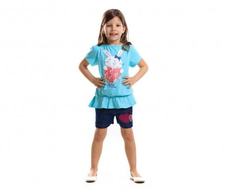 Set tricou si pantaloni scurti pentru copii Mon Amour