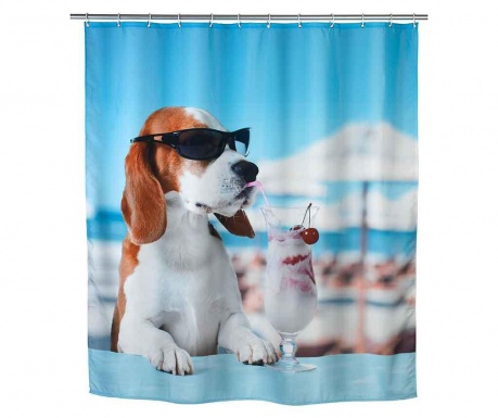 Zasłona prysznicowa Cool Dog 180x200 cm