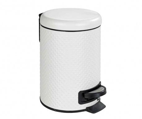 Кош за отпадъци с капак и педал Punto White 3 L