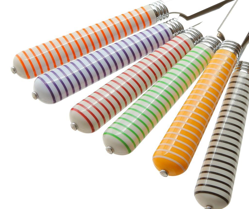 24 delni set jedilnega pribora Multicolor Stripes