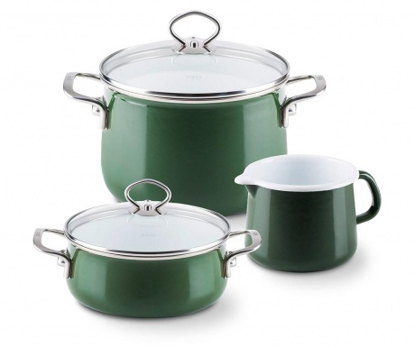 5-dijelni set posuda za kuhanje Nouvelle Green
