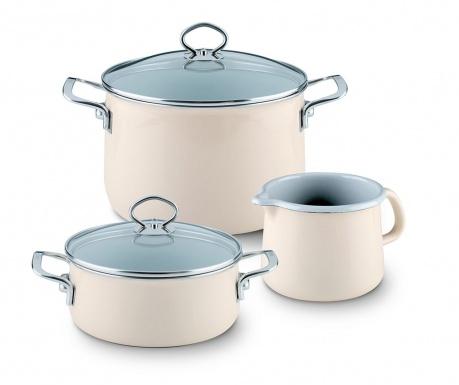 5-dijelni set posuda za kuhanje Avorio