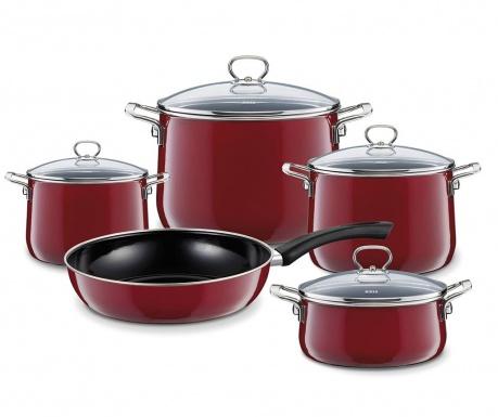 9-dijelni set posuda za kuhanje Rosso