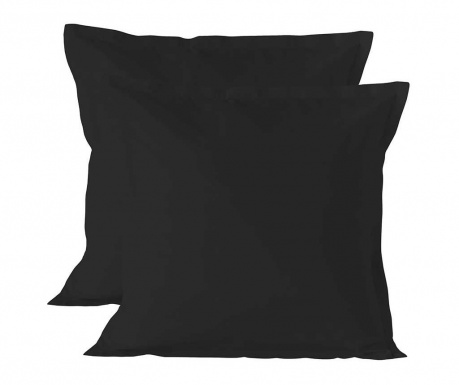 Set 2 jastučnice Basic Black 60x60 cm