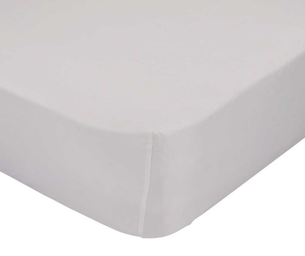 Plahta s elastičnom gumicom Basic Beige 90x200 cm