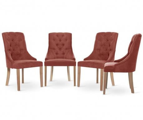 Set 4 scaune Jalouse Maison Chiara Peach