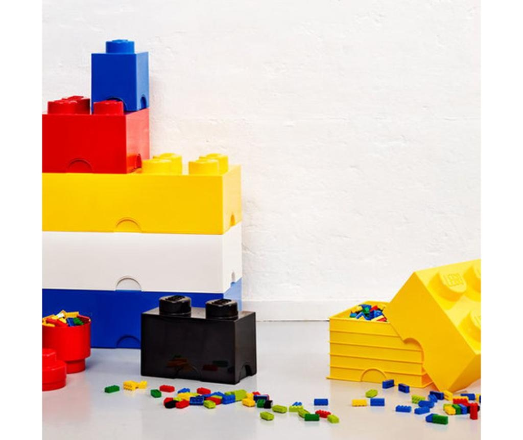 Škatla s pokrovom Lego Square Four Yellow
