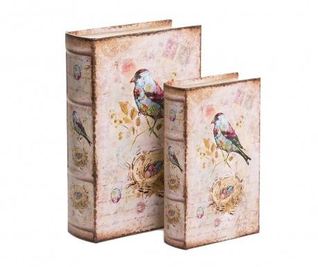 Zestaw 2 pudełek typu książka Hera
