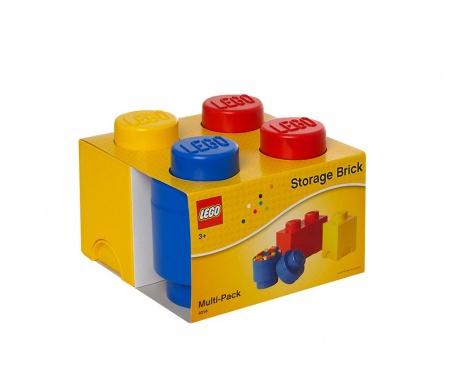 Zestaw 3 pudełek z pokrywką Lego All