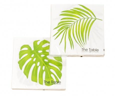 Sada 2 balíčků ubrousků Leaf Camilla