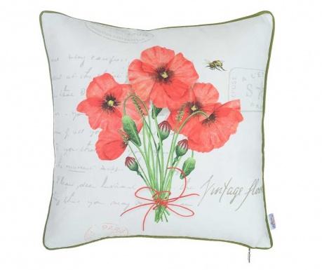 Poppy Bouquet Párnahuzat 43x43 cm
