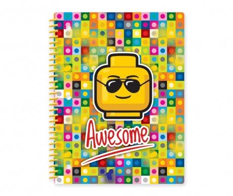 Beležnica s spiralno vezavo Lego Awesome