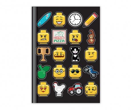 Beležnica Lego Black A5