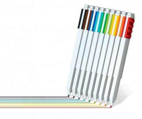 Set 9 flomastrov Logo Color