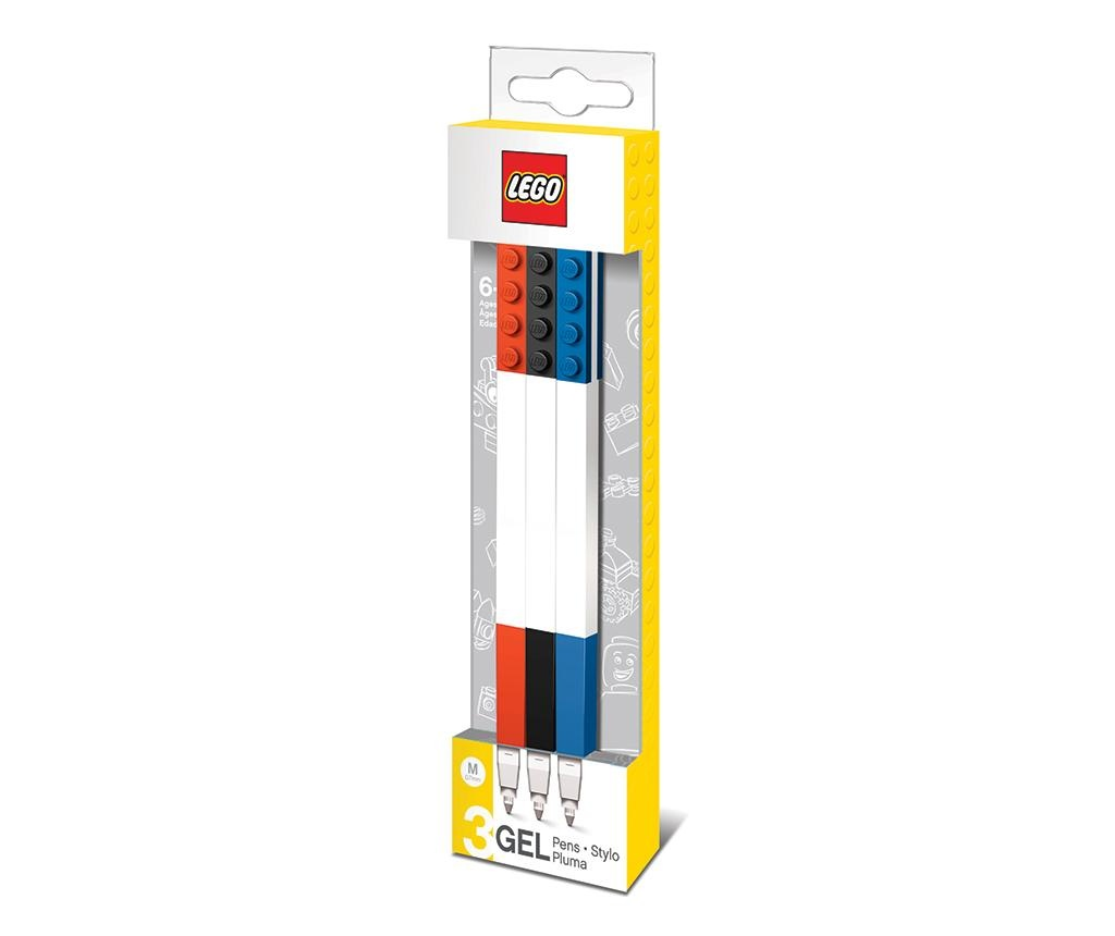 Set 3 gel pisal Lego Red Blue Black