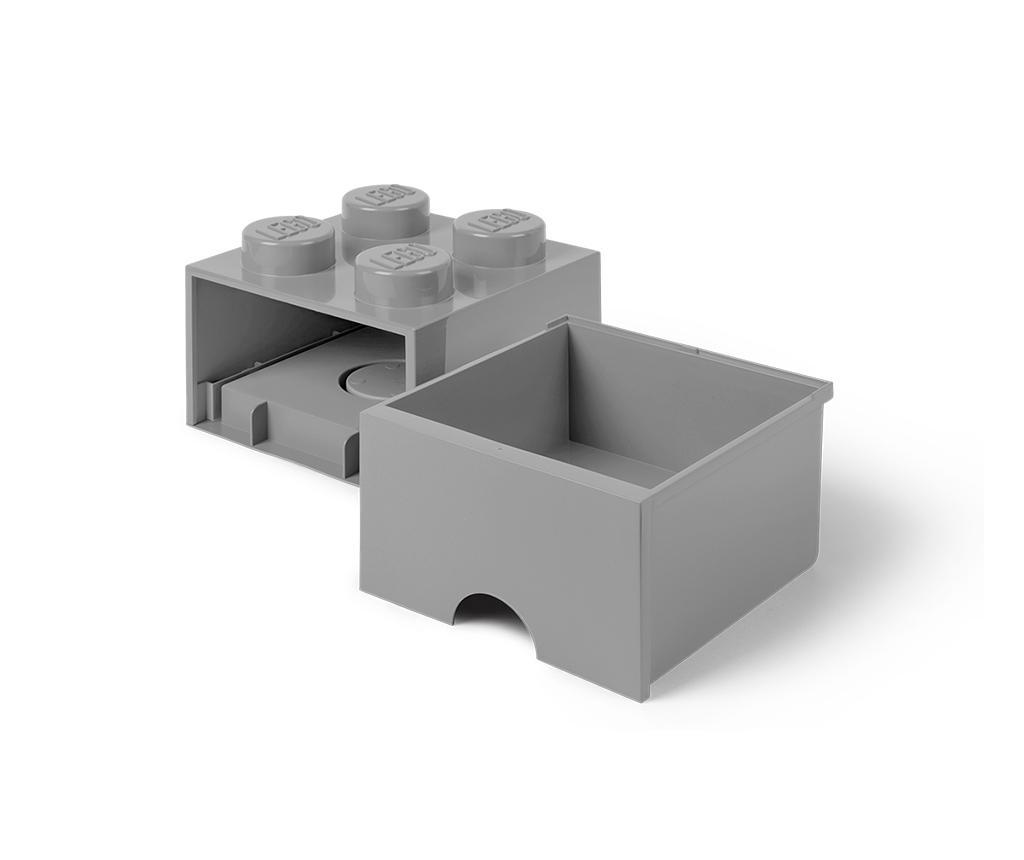 Shranjevalna škatla Lego Square One Grey