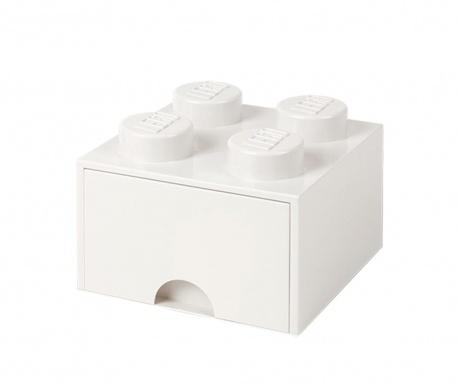 Cutie pentru depozitare Lego Square One White