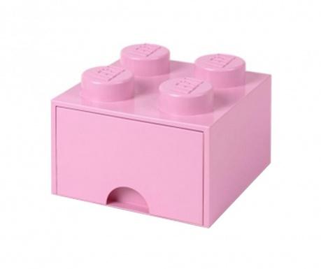 Shranjevalna škatla Lego Square One Light Pink