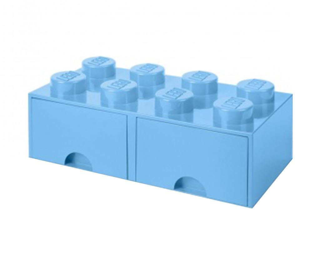 Lego Square Duo Light Blue Tárolódoboz