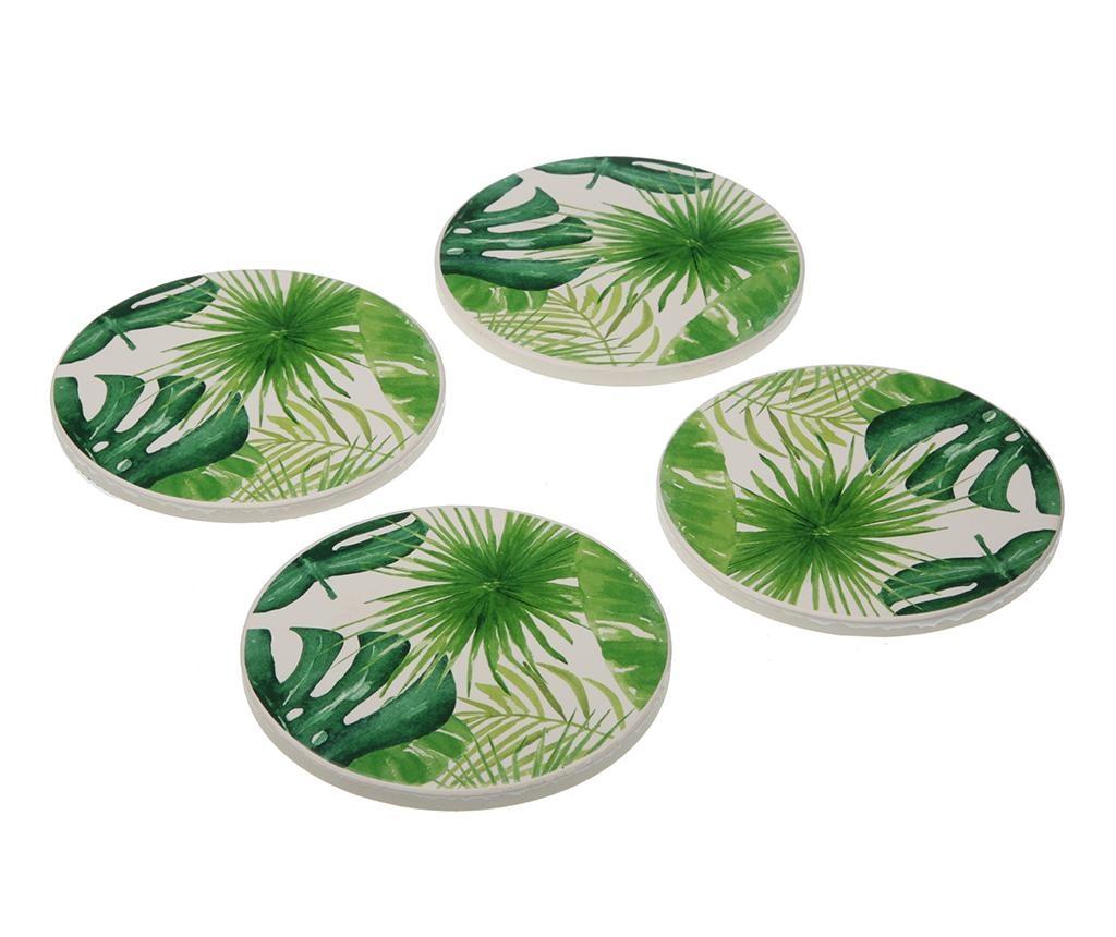 Set 4 podmetača za čaše New Leaves