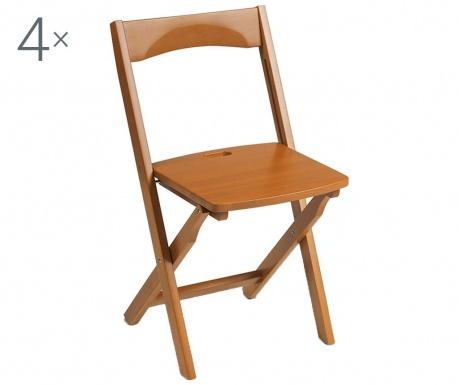 Σετ 4 πτυσσόμενες καρέκλες Diana Brown