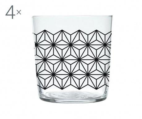 Zestaw 4 szklanki Magatama Geometric 370 ml