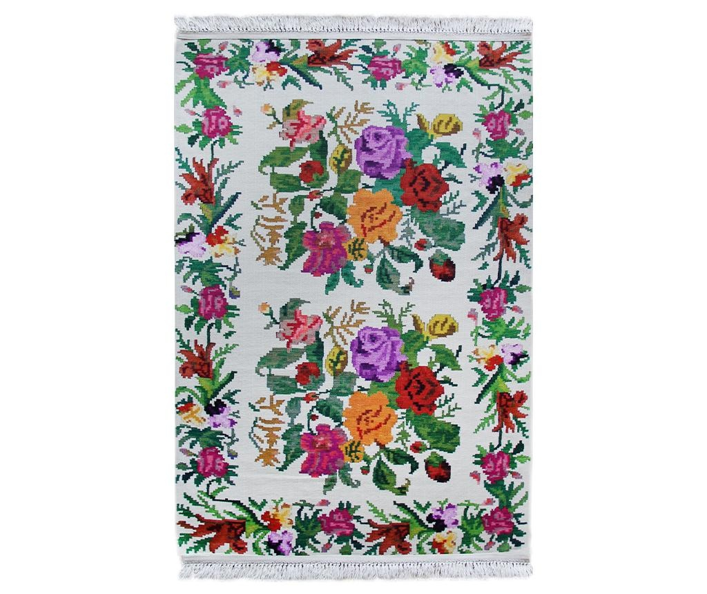 Tepih Traditional White 75x150 cm