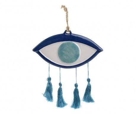 Viseča dekoracija Eye with Three Tassels Blue