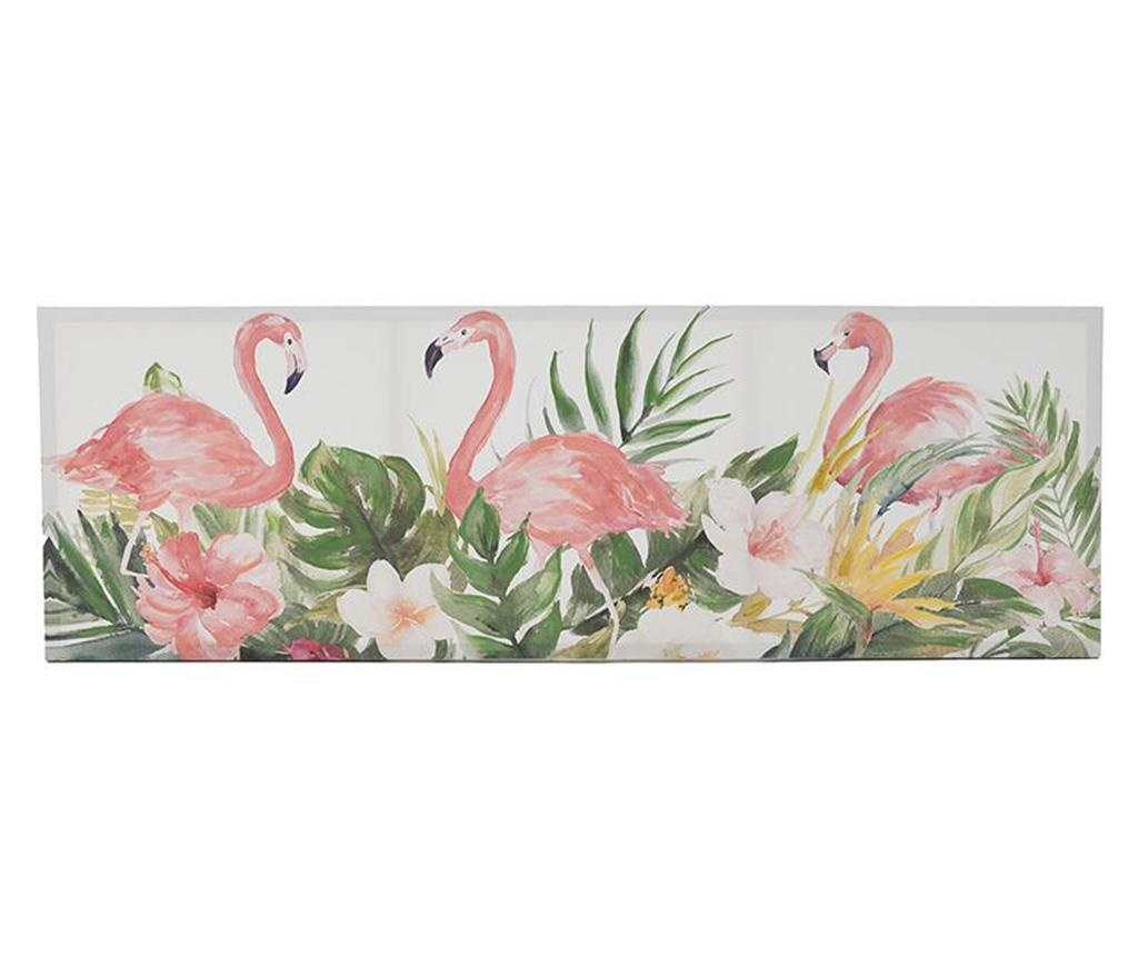 Tablou Flamingo 50x150 cm