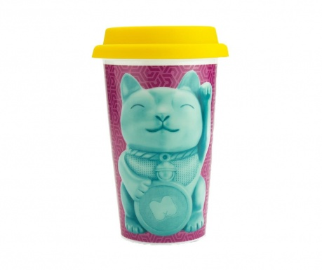Cana de calatorie Lucky Cat 350 ml