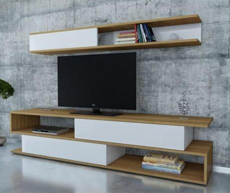 Set TV komoda in viseč element Sims