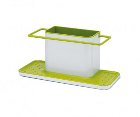 Caddy Biggie White & Green Tartó mosogatószivacsnak és edénykefének