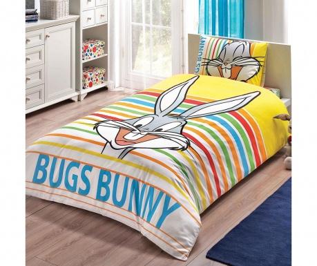 Lenjerie de pat Single Bugs Bunny Striped