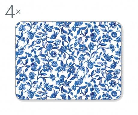 Zestaw 4 podkładek stołowych Blue Style 21.5x29 cm