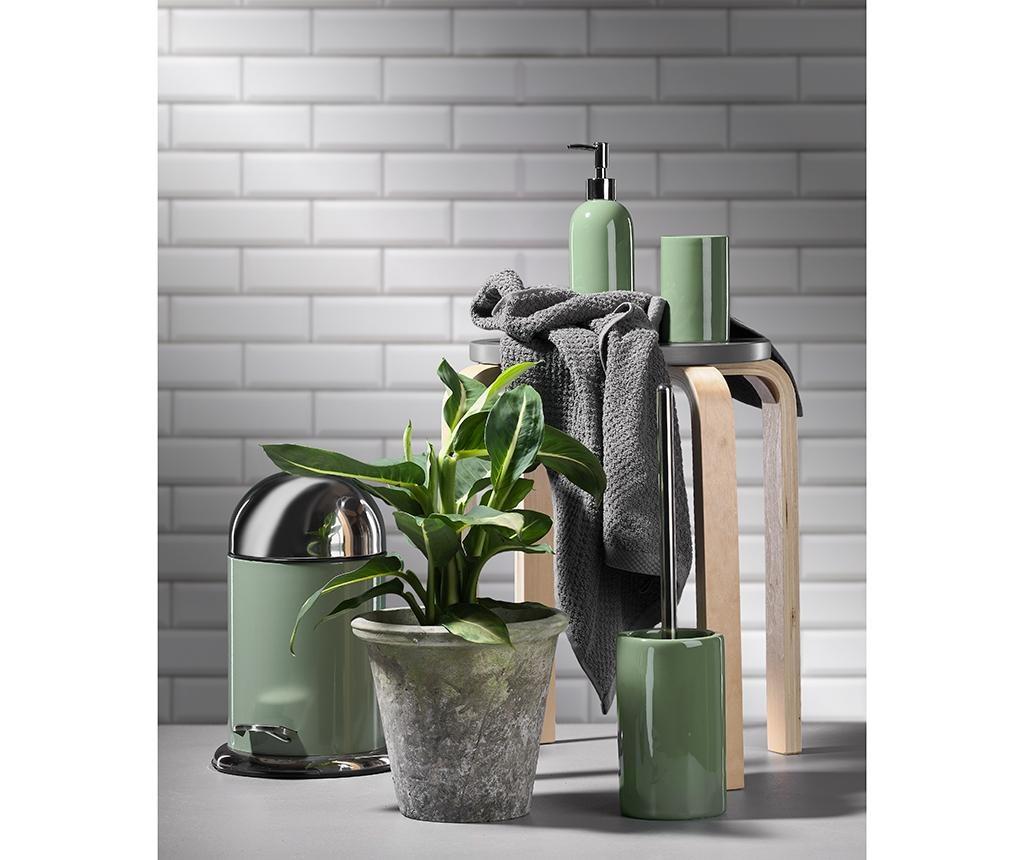 Shiny Green Little WC-Kefe tartóval