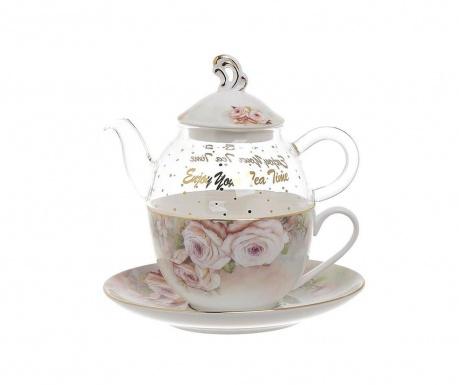 Комплект чайник с чашка и чинийка Roso