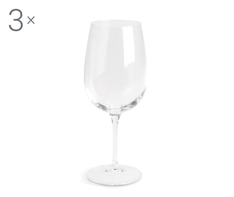 Set 3 kozarcev za vino Spazio 500 ml