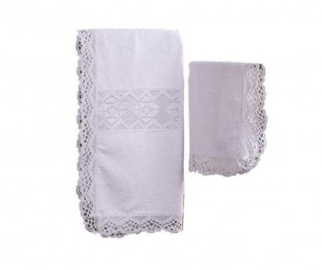 Комплект 2 кърпи за баня Lacy White