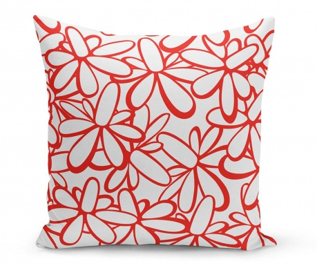 Perna decorativa Flowers Red 43x43 cm