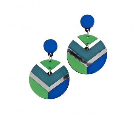 Shapes Blue & Green Fülbevaló