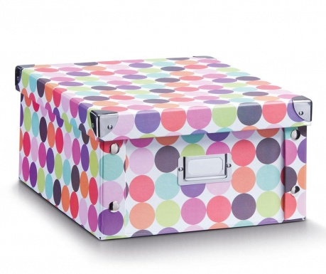 Pudełko z pokrywką do przechowywania Dots