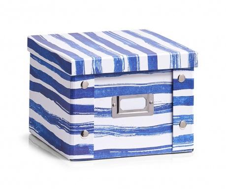 Pudełko z pokrywką do przechowywania Blue Stripes