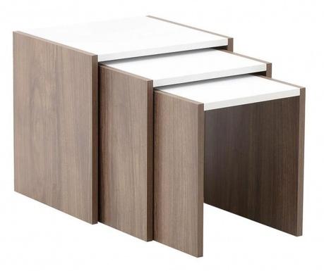 Sada 3 modulárnych stolíkov Wendall