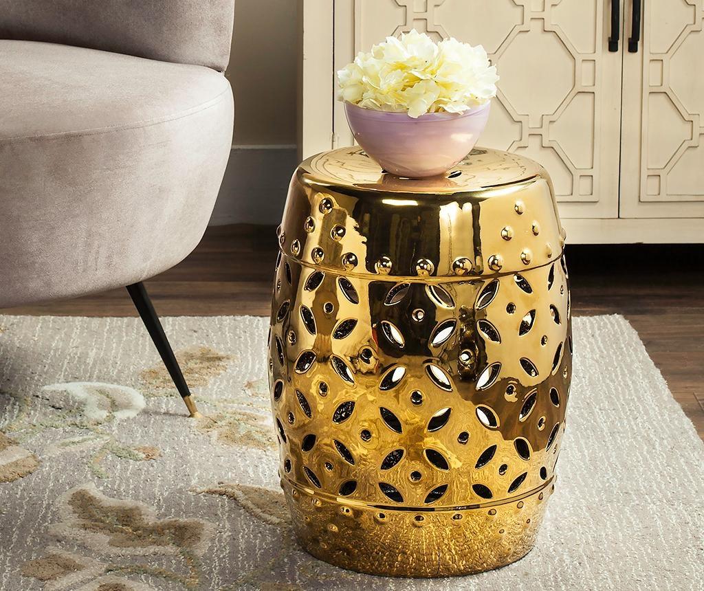 Taburet decorativ Cyprus Gold