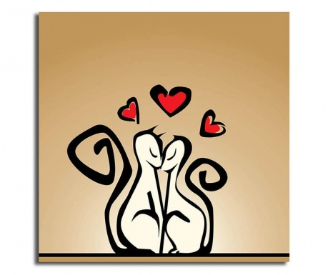 Obraz Cats in Love 45x45 cm