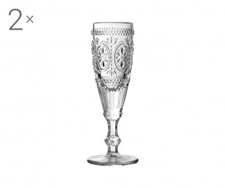 Sada 2 pohárov na šampanské Fleur 170 ml