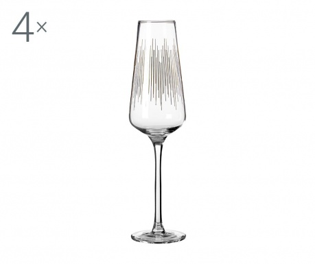 Set 4 kozarcev za šampanjec Deco 270 ml