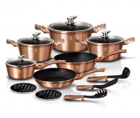 Zestaw naczyń do gotowania 15 części Royal Gold